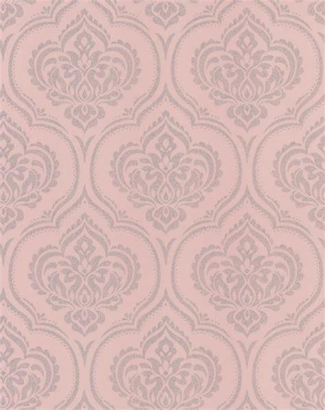 wallpaper glitter damask glitter damask pink wallpaper by albany unique walls