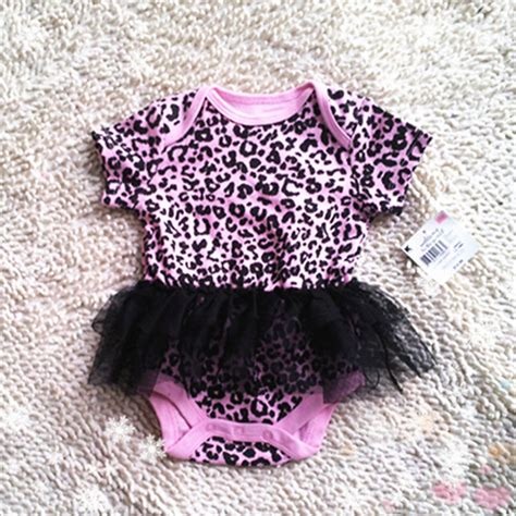 Jumpsuit Baby Pink Leopard baby zebra petti romper s jumpsuit skirt pink