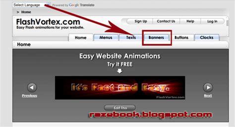 cara membuat website iklan gratis cara membuat banner iklan keren model flash