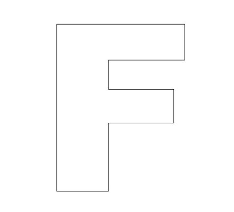 Letter F Crafts Preschool And Kindergarten Letter A Template For Preschool