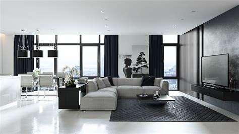 black and white interior three black and white interiors that ooze class