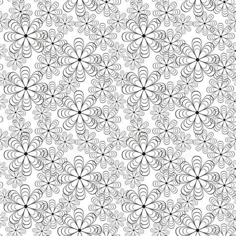 flower pattern white black and white flower seamless pattern stock vector