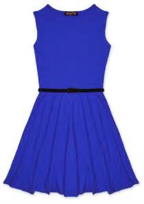 Girls skater dress kids party dresses belted new age 7 8 9 10 11 12 13