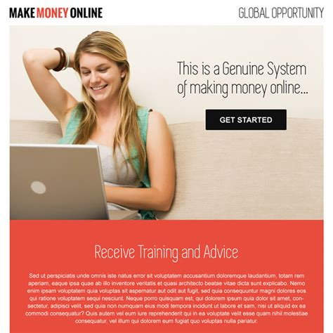 money online landing page design templates to earn money online - Make Money Online Landing Page