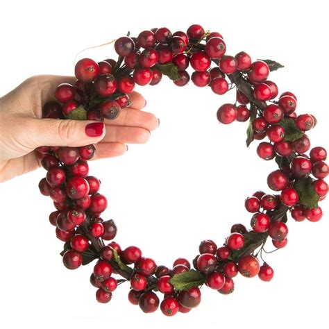 red and burgundy artificial holly berry wreath wreaths