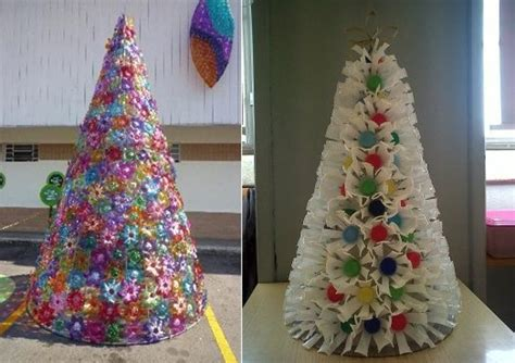 plastic cups christmas tree 21 diy alternative tree ideas for festive mood