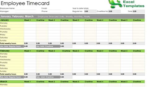 Yearly Timesheet Template Spreadsheet Onlyagame Employee Timecard Template Excel