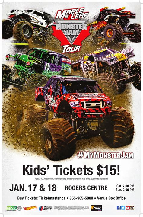 Closed Monster Jam Toronto Ticket Giveaway I Don T