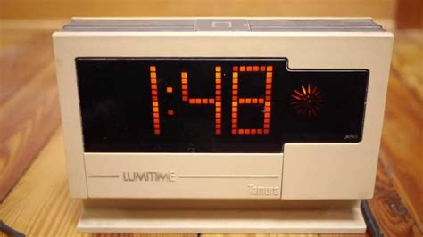 digital japan vintage 70s tamura lumitime japanese digital alarm clock