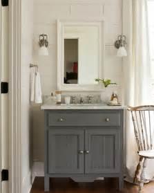 Gray bathroom vanity cottage bathroom southern living