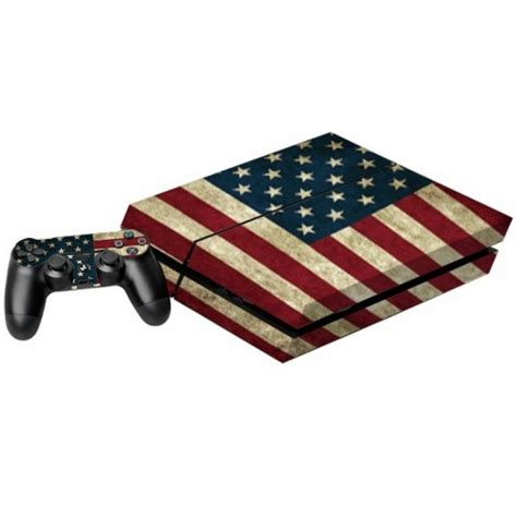 us flag pattern decal stickers for ps4 game console alex nld