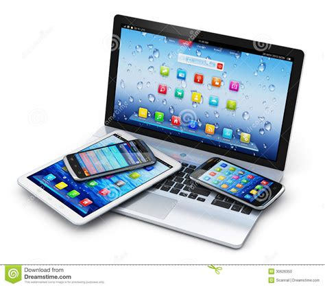 mobile tablet pc mobile devices stock illustration image of data display