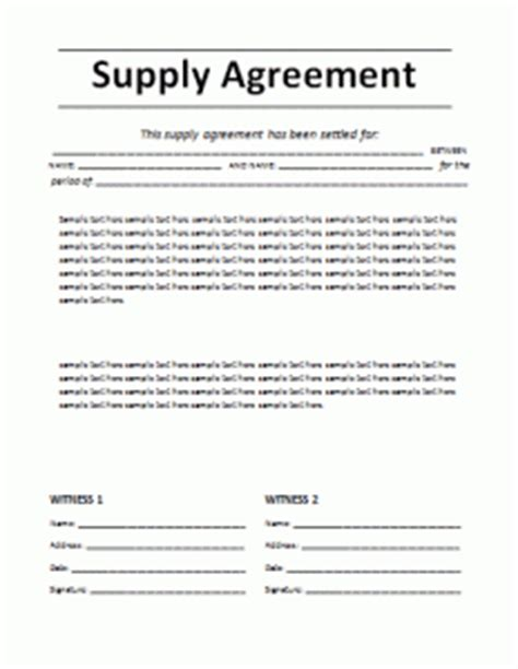 Supply Agreement Template Word Excel Pdf Templates Sole Supplier Agreement Template