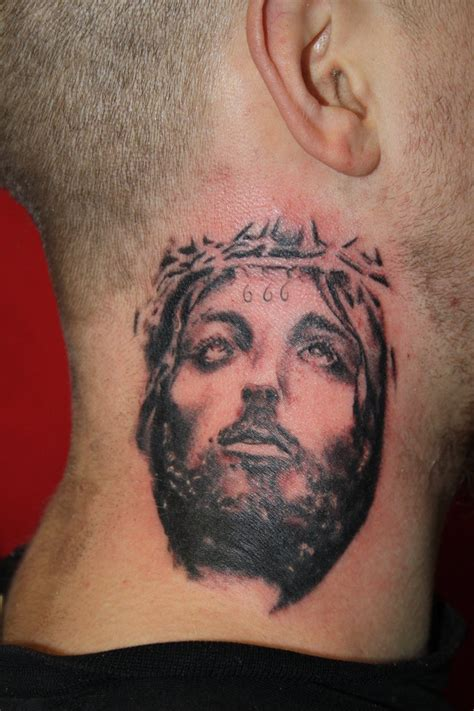 jesus face tattoo designs 27 jesus neck tattoos