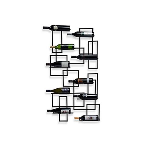wine rack bed bath and beyond mid century wall mount 10 bottle wine rack bed bath beyond