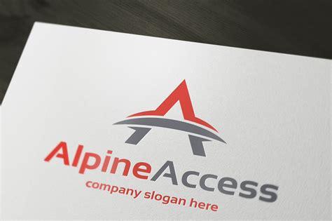alpine access logo templates on creative market