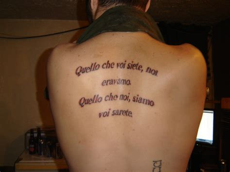 quotes tattoo sayings on the upper back black and white