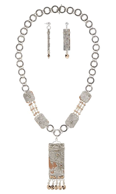 sheet metal for jewelry jewelry design single strand necklace and earring set