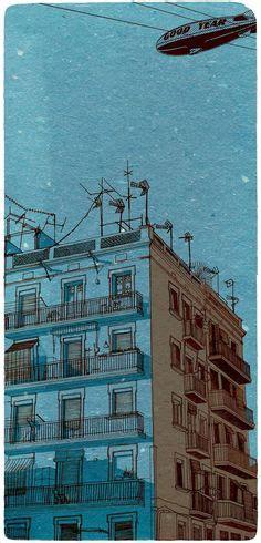 Novel Metropop On The Blue Sky Ye ye white white horses and watercolor