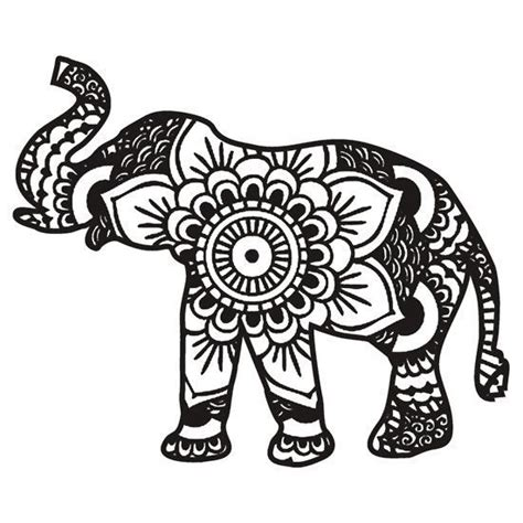 drawn elephant elephant design pencil and in color drawn