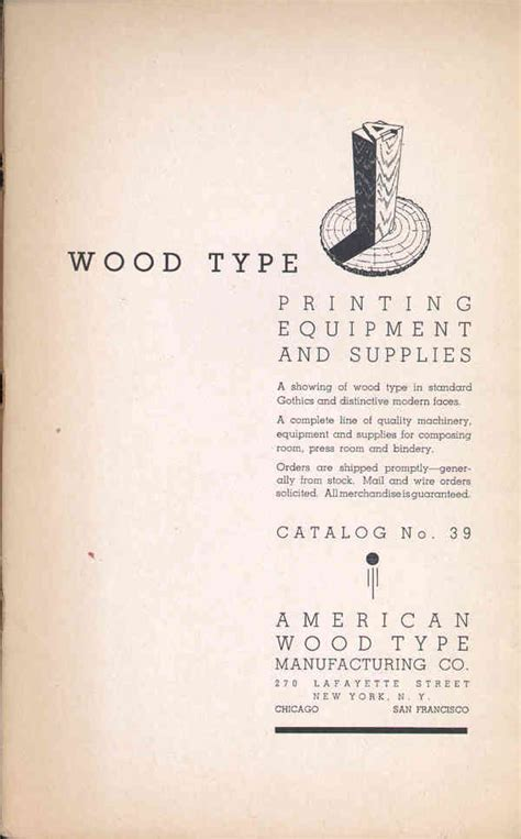 American Wood Type american wood type manufacturing company