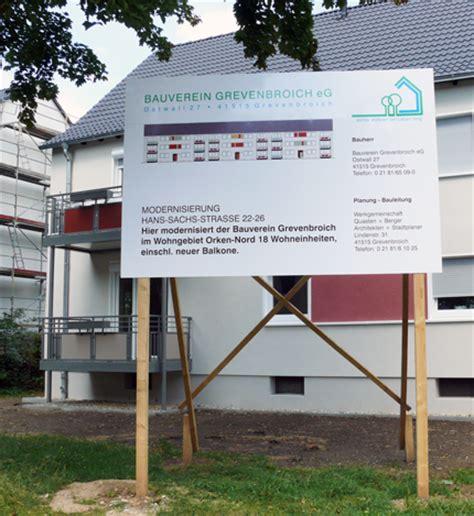 Bauschild Anlage by Neumann Gmbh Produkte Leistungen Schilder