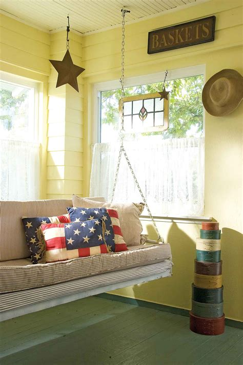 home design story romantic swing enclosed porch country style decor interior home design