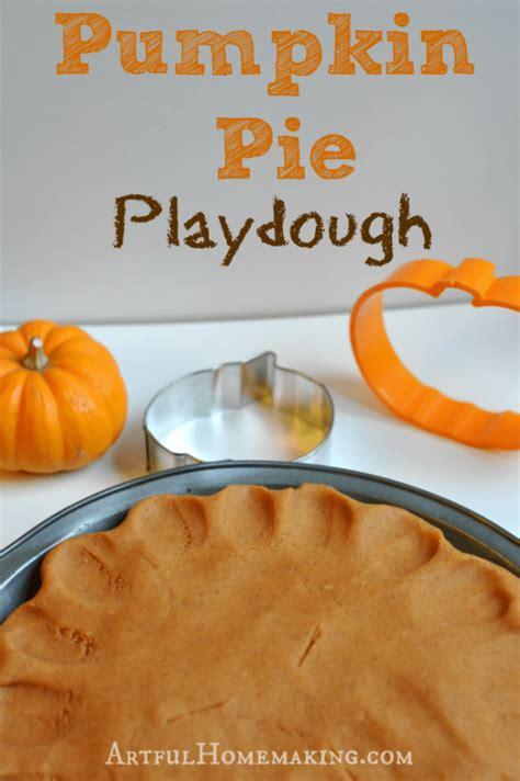pumpkin pie playdough recipe artful homemaking