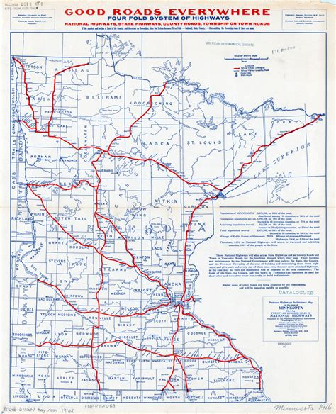 map of mn highways national highways preliminary map of the state of