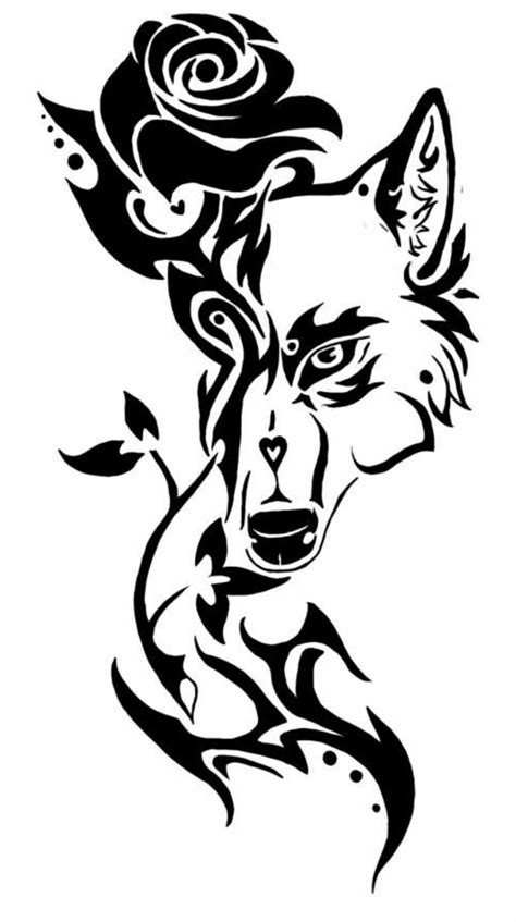 wolf with rose tattoo 45 wolf ideas heandshelifestyle