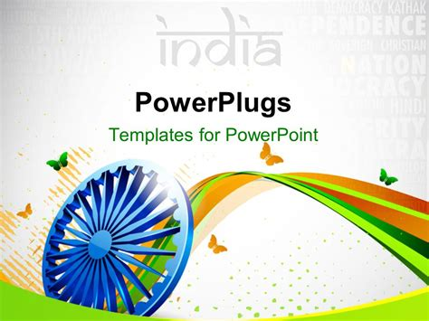 Powerpoint Template Creative Background With Indian Flag India Powerpoint Template