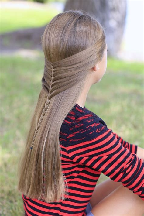Cute Girl Hairstyles Mermaid Braid | mermaid half braid hairstyles for long hair cute girls