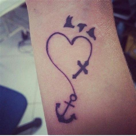 heart anchor cross tattoo designs 27 best crossed anchors meaning images on