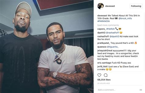 dave east looks golden warriors up w kevin durant