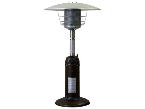 Table Top Heater by Az 38 Portable Table Top Steel Hammered Bronze Propane