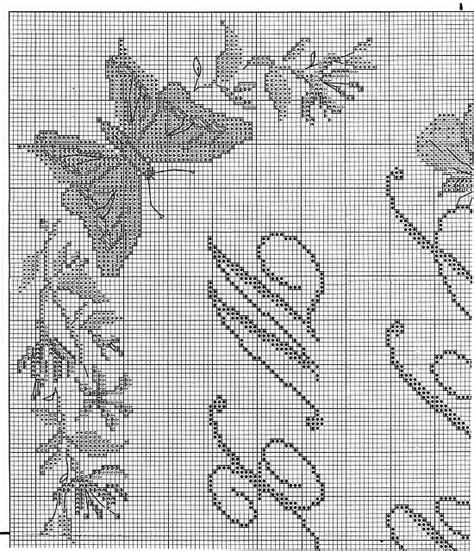 lettere corsive punto croce sler punto croce con lettere corsive e farfalle 2