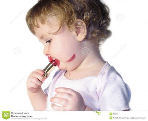 lipstick baby stock photo image of lipstick toddler