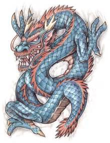 coloured dragon tattoo design img19 171 dragons 171 classic