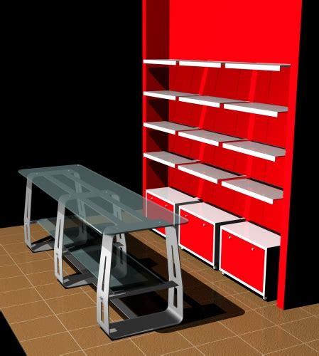 mensole per negozi foto m 1158 arredamento negozi tavolo base metallo