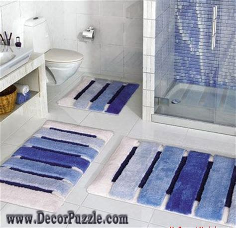 Blue Bathroom Rug Sets Fashionable Bathroom Rug Sets And Bath Mats 2018