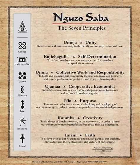 the official kwanzaa web site the founder s message 2000