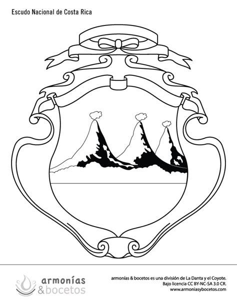 imagenes de simbolos nacionales de costa rica para colorear dibujos simbolos patrios nacionales costa rica profe