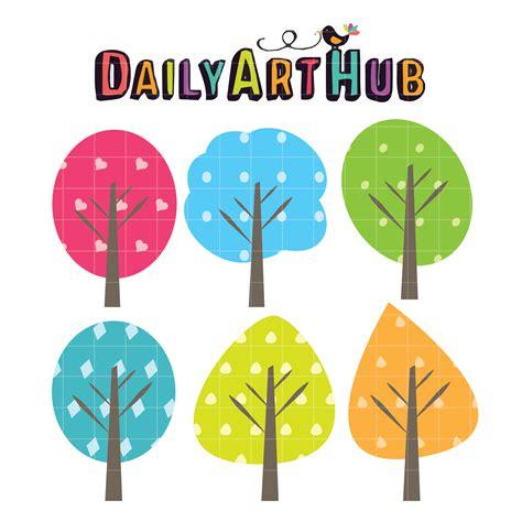 cute trees clipart www imgkid com the image kid has it cute trees clip art set daily art hub free clip art