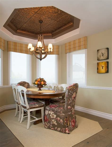 Ceiling Company by Dining Rooms With Tin Ceilings Rustic Dining Room