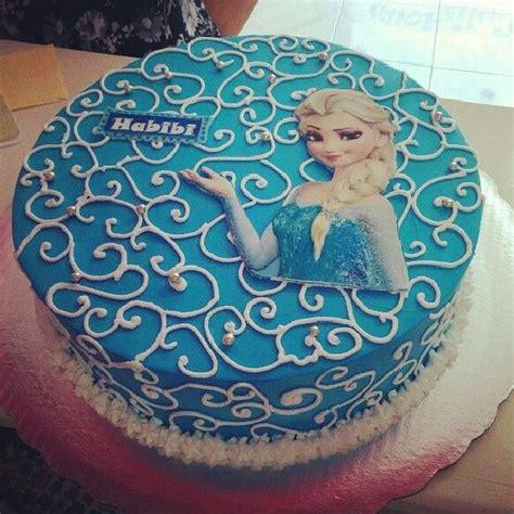 uno mas de frozen pastel chantilly oblea princesaelsa disney nieve infantiles cake