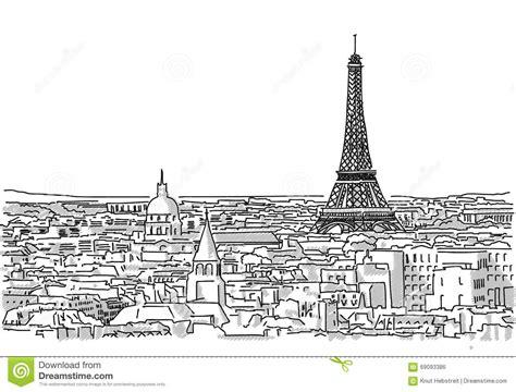 Au Sujet Des Toits Du Dessin Fait Main De Paris
