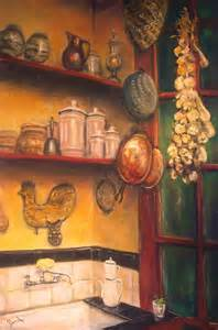 kitchen paintings creole kitchen painting still life interior old new