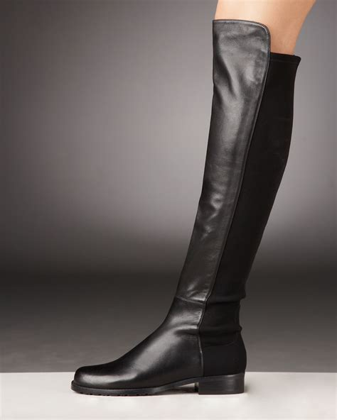 stuart weitzman 5050 the knee boots leather looks for less macarons midterms and manolos
