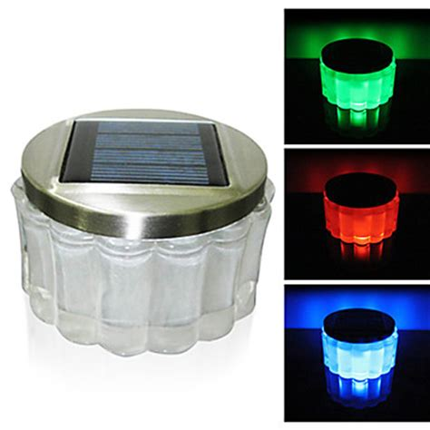 Crystal Rgb Color Changing Led Solar Powered Garden Light Small Solar Lights
