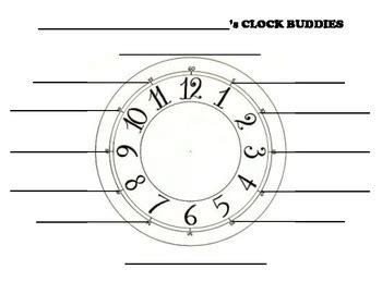 printable clock buddies free clock buddies template printable free download clip